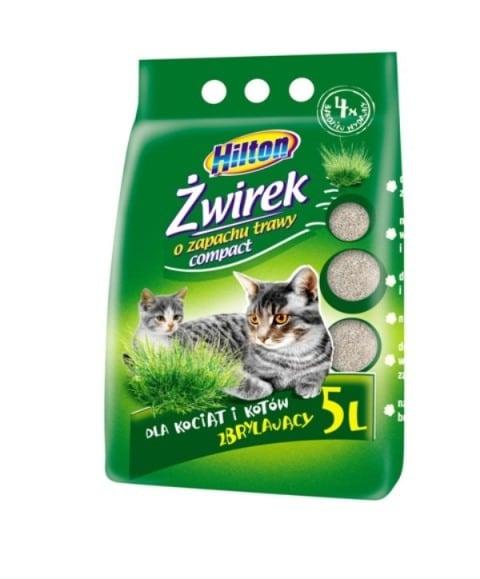 Hilton żwirek bentonitowy compact zbrylający 5l trawa dla kota i kociąt