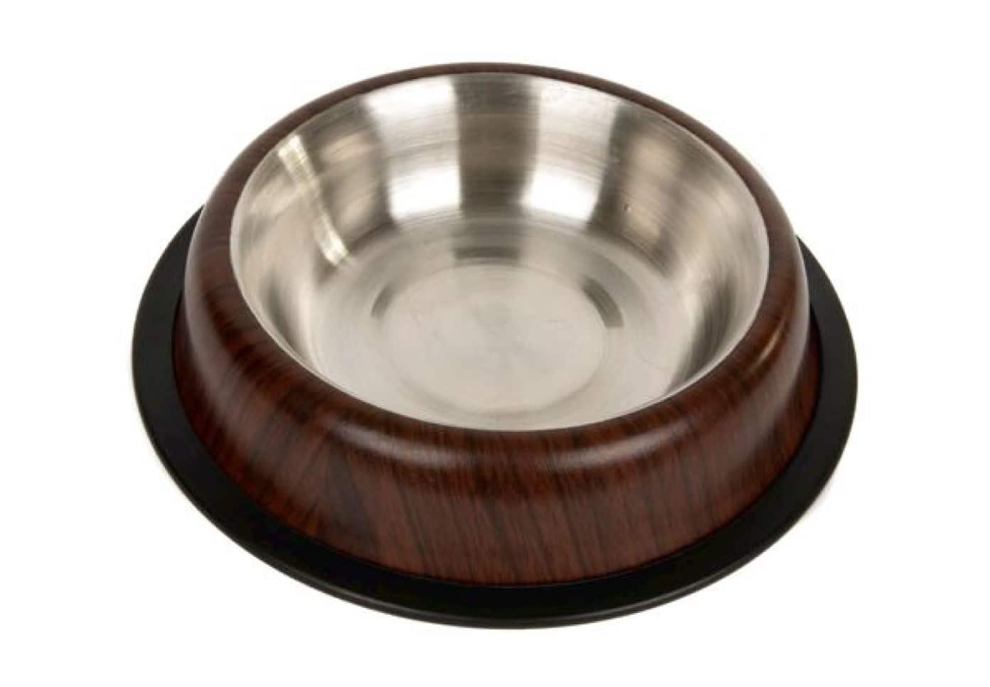 Chico Miska metalowa na gumie dla kota lub psa drewno 0,71l