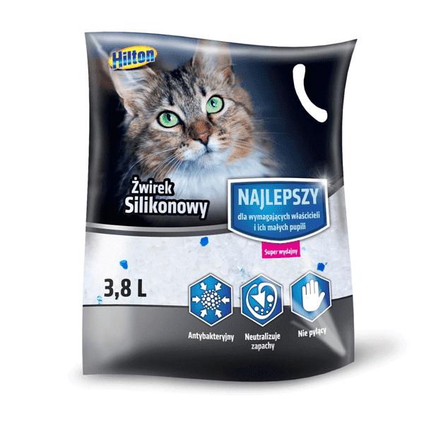 Hilton żwirek silikonowy 3,8l dla kota