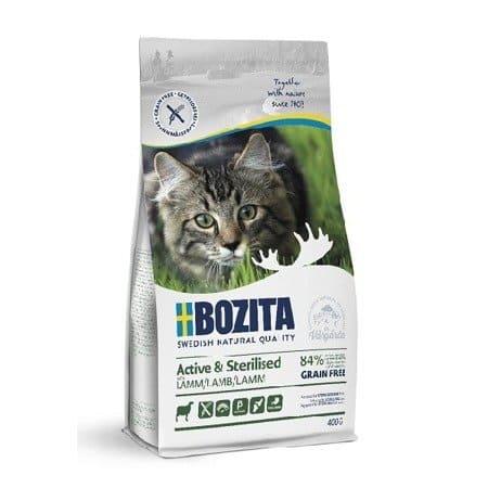 BOZITA Active & Sterilised Grain Free z jagnięciną 400g