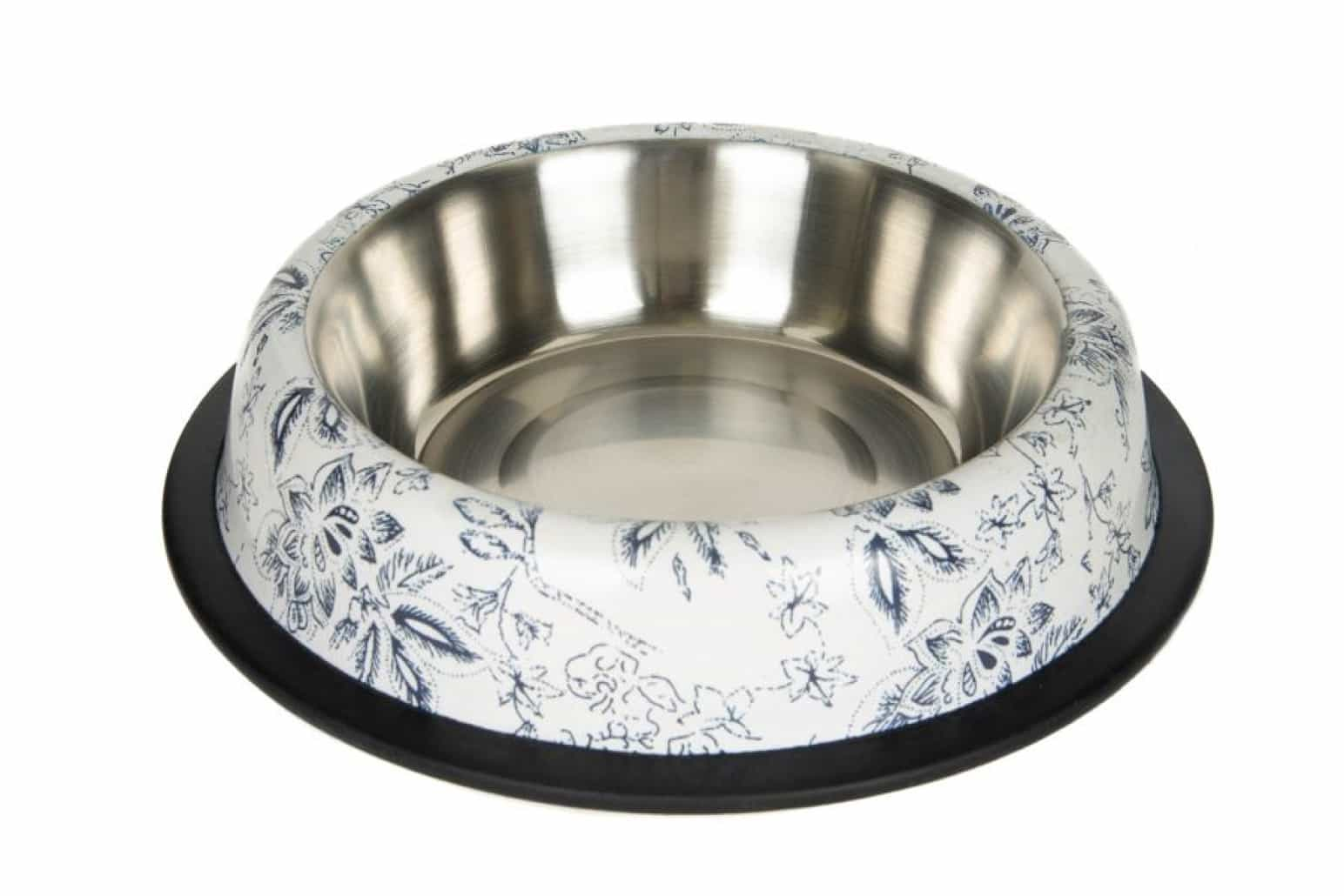 Chico Miska metalowa na gumie dla kota lub psa w kwiaty 0,71L