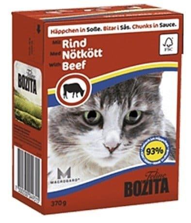 BOZITA Mięsne kawałeczki w sosie z wołowiną  dla kota Tetra Recart 370g