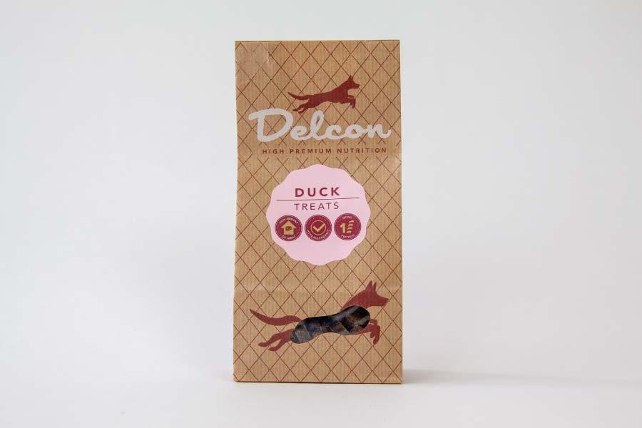 Delcon Premium Duck Treats przysmaki premium z kaczki 150g