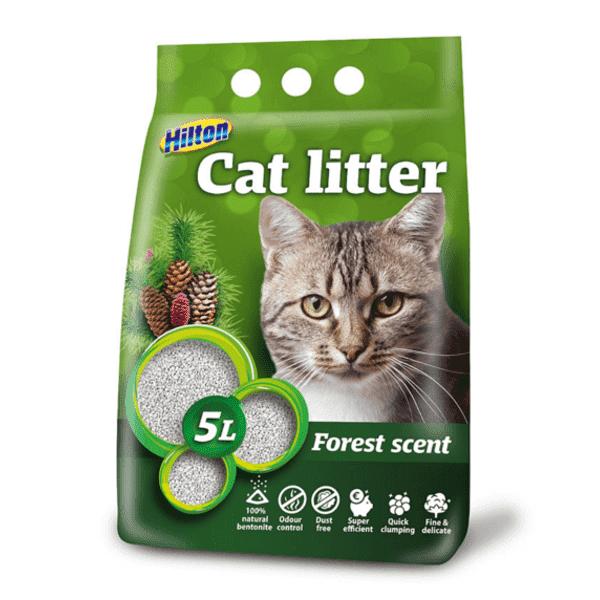 Hilton żwirek bentonitowo- zbrylający 5l dla kota leśny