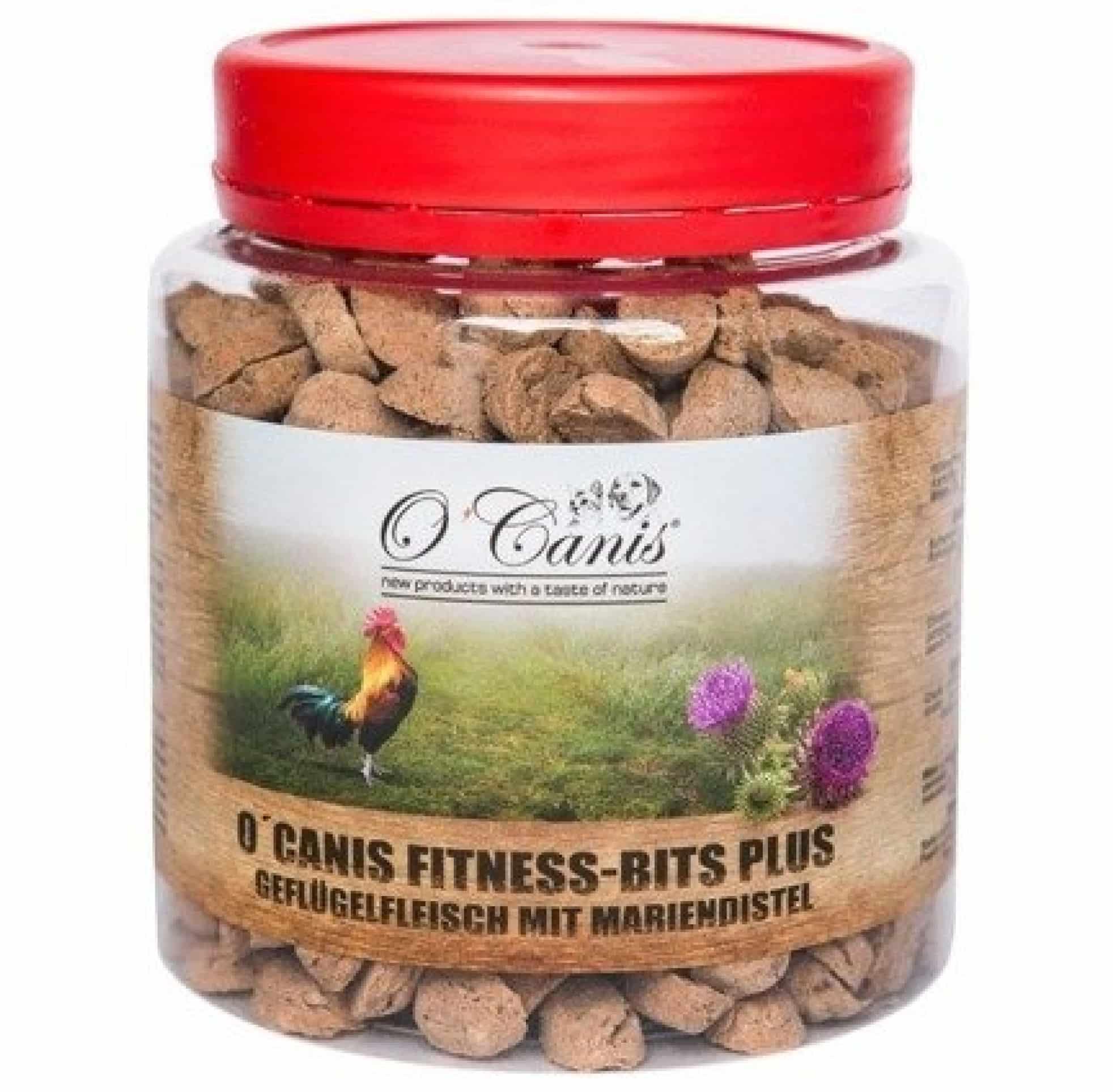 O'Canis Fitness-Bits PLUS drób z ostropestem 300g przysmak trenerski dla psa