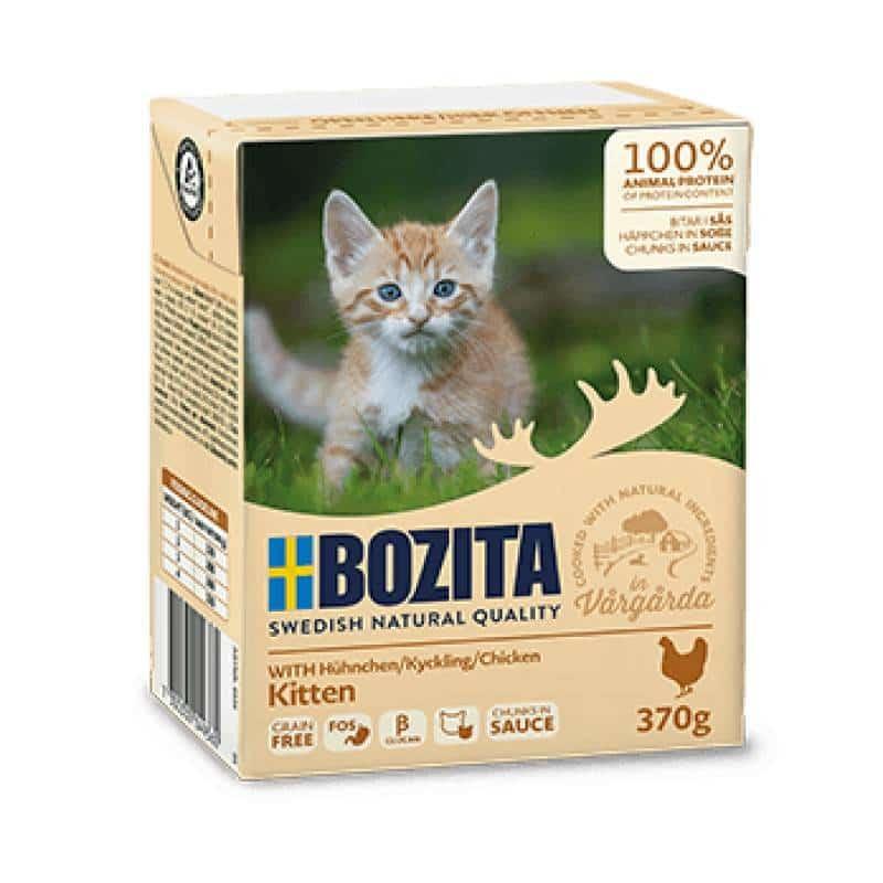 BOZITA Kitten kurczak w sosie dla kociąt i ciężarnych kotek Tetra Recart 370g