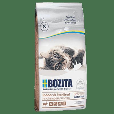 BOZITA Indoor & Sterilised Grain Free z reniferem 2 kg