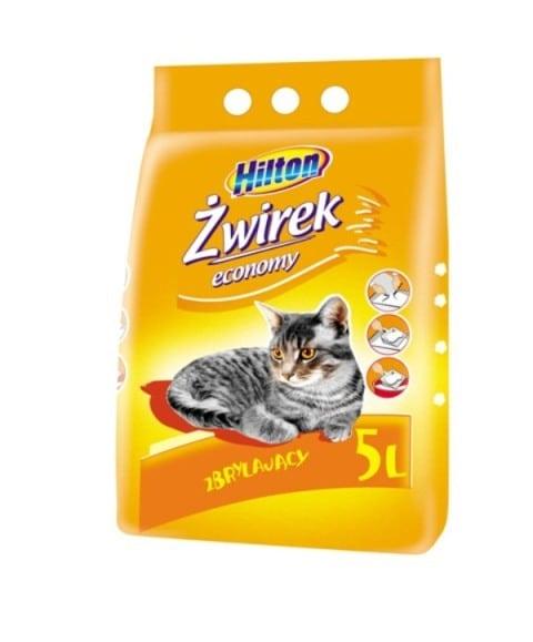 Hilton żwirek bentonitowy economy zbrylający 5l dla kota