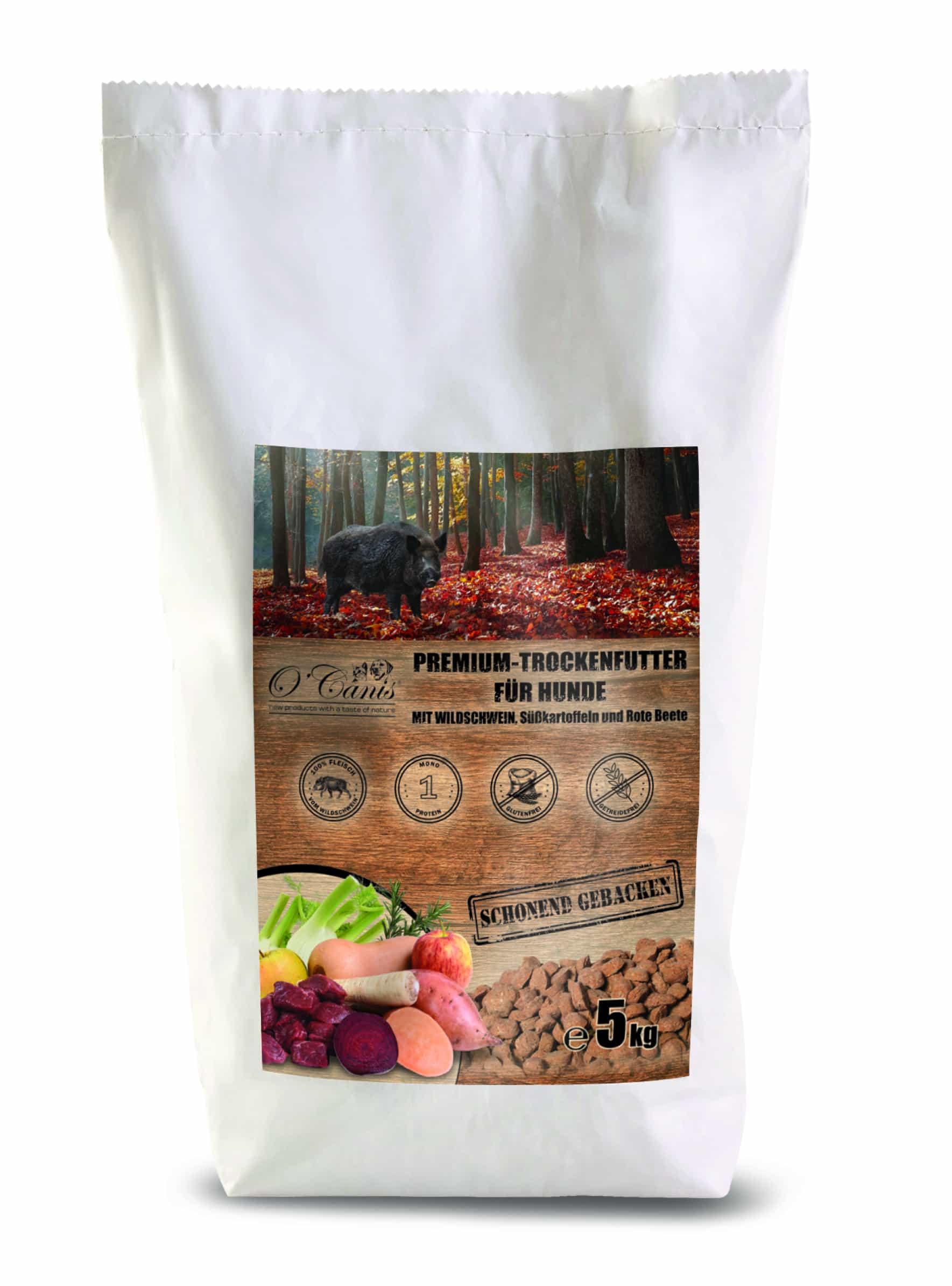 O'Canis  karma pieczona z dzika, słodkiego ziemniaka i buraków 10kg
