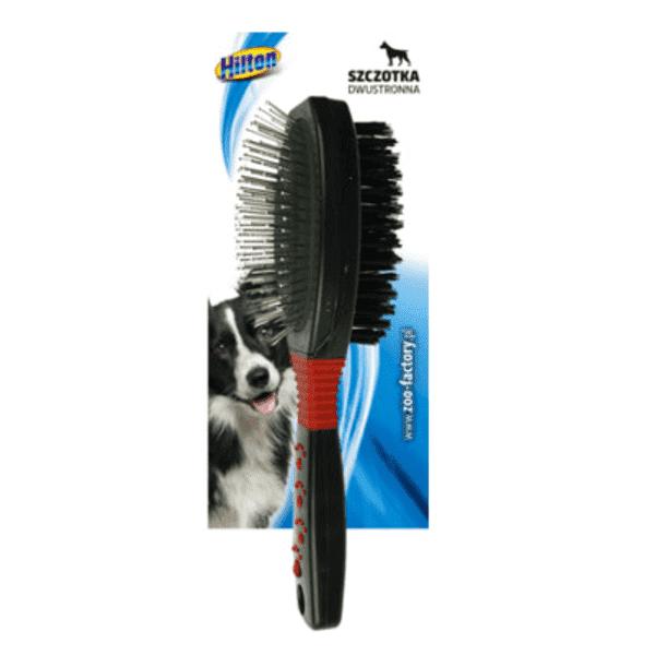 Hilton szczotka dwustronna owalna druciano-nylonowa dla psa 23,5cm