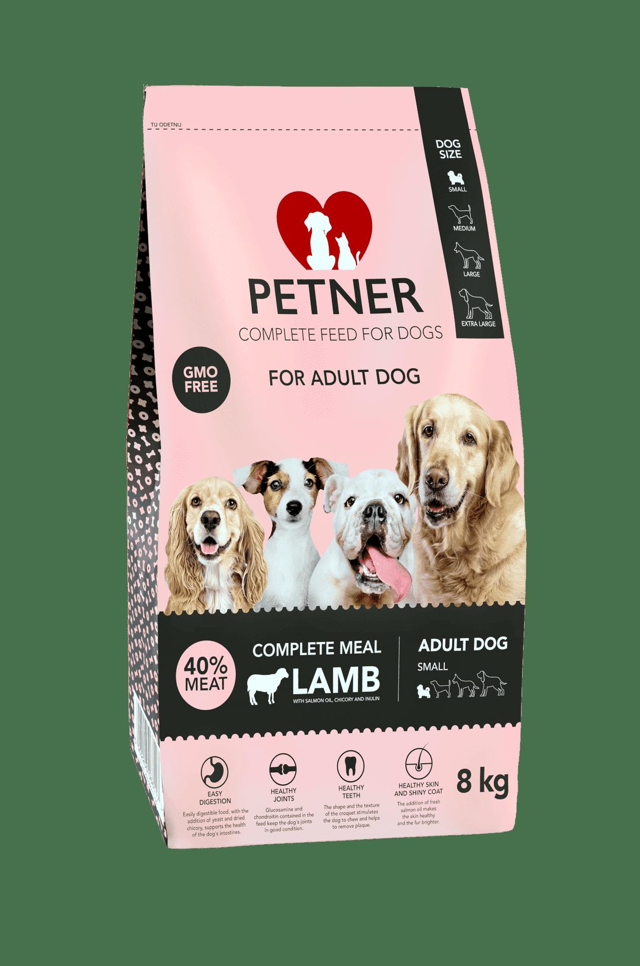 Petner Adult small breeds with lamb 8kg