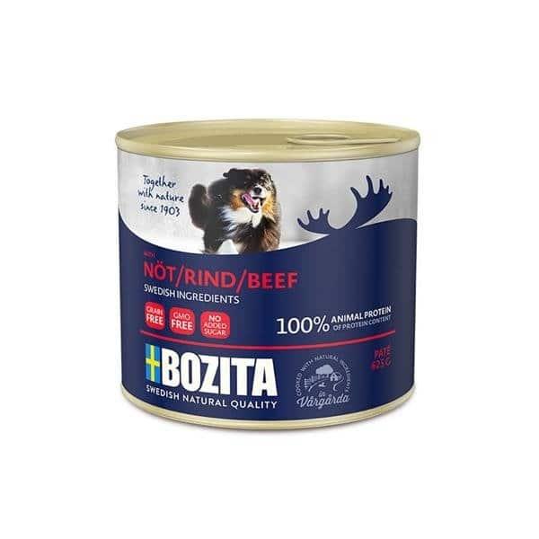 BOZITA Pate z Wołowiną mokra karma dla psa w puszce 625g