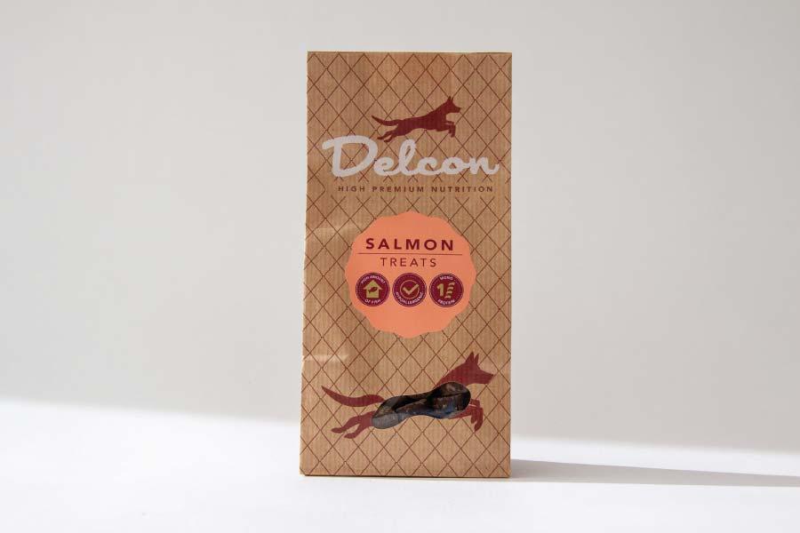 Delcon Premium Salmon Treats przysmaki premium z łososia 150g